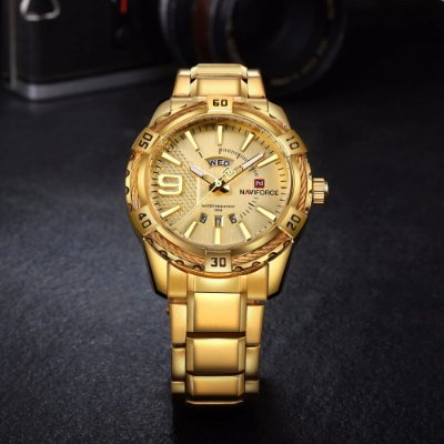 Relógio Dourado Naviforce