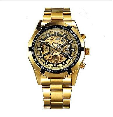 Relógio Dourado Winner Forsining
