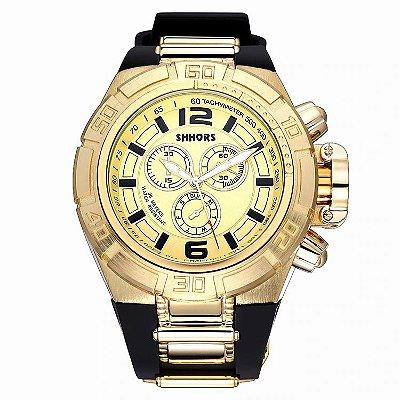 Relógio Dourado Shhors Militar