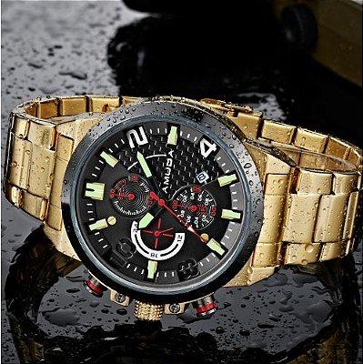 d7896f84f9f Relógio Dourado Amuda Sport