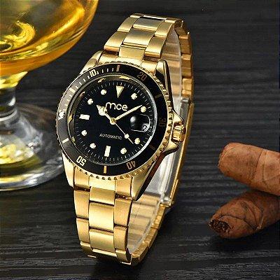 Relógio Dourado Mce