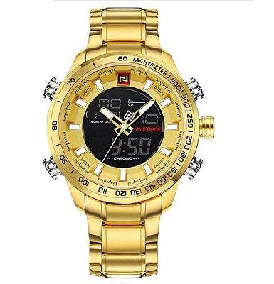 Relógio Dourado Naviforce Light