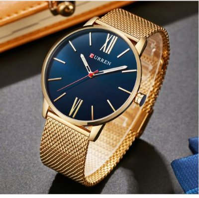 Relógio Dourado Curren Sport