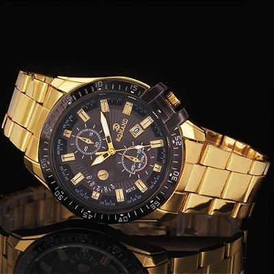 Relógio Dourado Rigardu