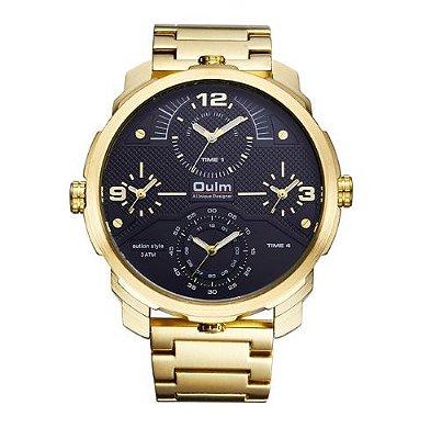 Relógio Dourado Oulm Classic