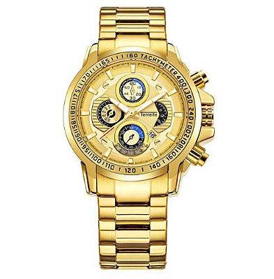 Relógio Dourado Temeite Automático