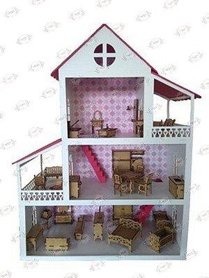 Casa de Bonecas em MDF