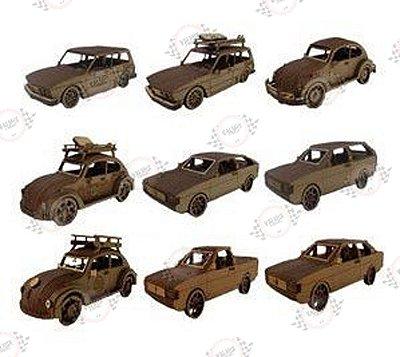 Carros Volkswagem 3D em MDF