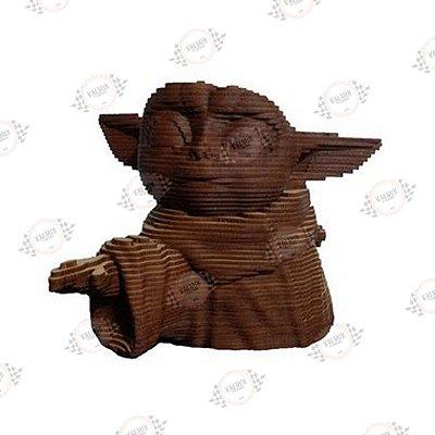 Baby Yoda em MDF 3D