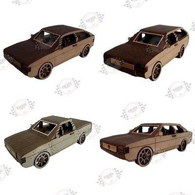 Volkswagem Quadrados 3D em MDF