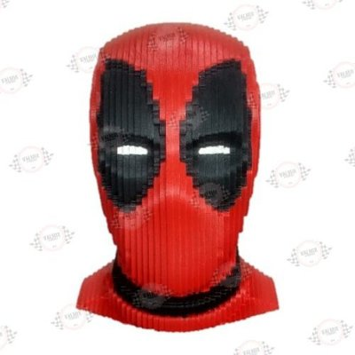 Busto Deadpool em MDF 3D Pintado