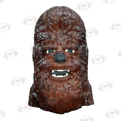 Busto Chewbacca em MDF 3D Pintado