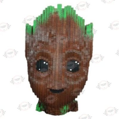 Busto Groot em MDF 3D Pintado