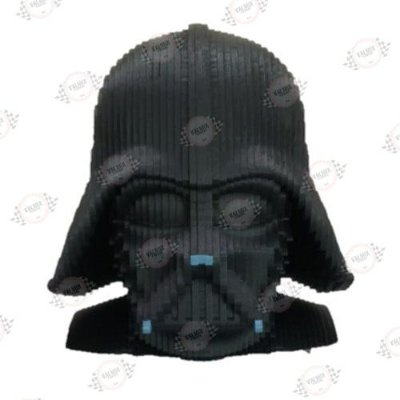 Busto Darth Vader em MDF 3D Pintado