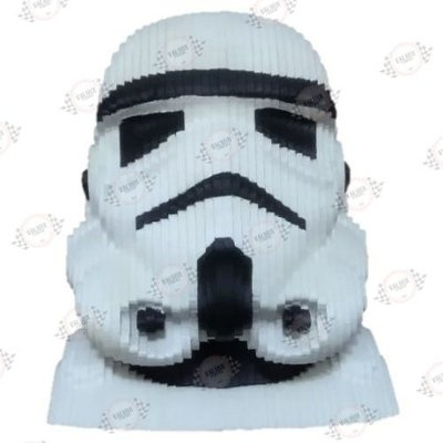 Busto Stormtrooper em MDF 3D Pintado