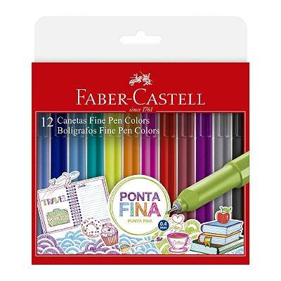 Caneta FABER-CASTELL Fine Pen - Estojo Com 12 Cores