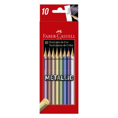Lápis de Cor FABER-CASTELL Metallic 10 Cores