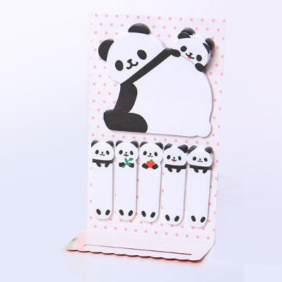 Bloco Adesivo Panda Fofo
