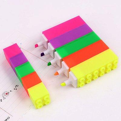 Marca Texto Lego de Montar