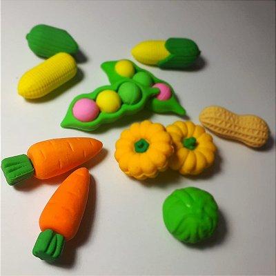 Borracha Escolar Criativa Verduras