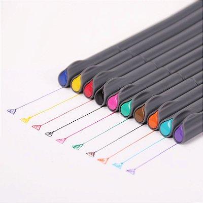 Kit Canetas Hidrográficas Coloridas - 10 Cores