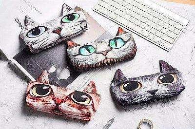 Estojo Escolar Olhos de Gato