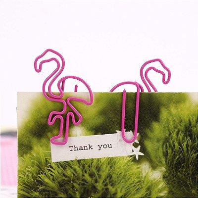 Clip Escolar de Flamingo Pequeno - 1 Unidade