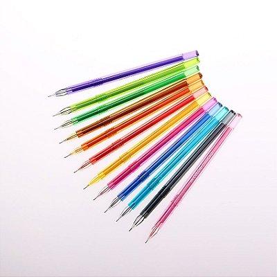 Kit Caneta Em Gel Colorida Diamante - 12 Cores