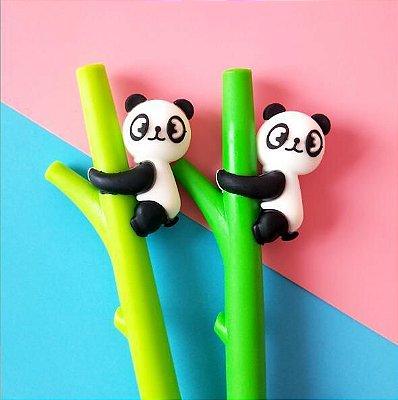 Caneta Em Gel Panda Com Bambu