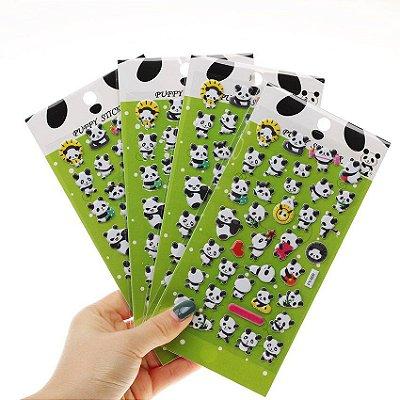 Adesivos 3D Panda - 1 Cartela
