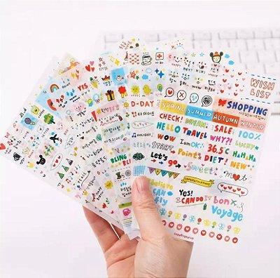 Adesivos Cotidianos Para Scrapbook - 6 Cartelas