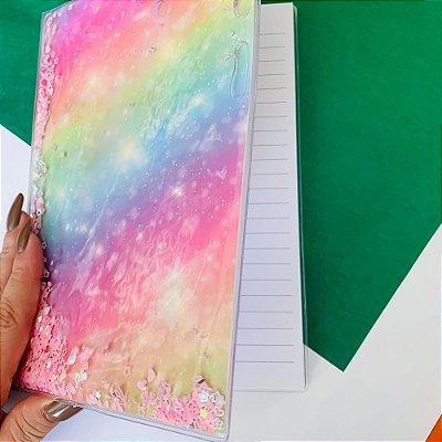 Caderno Aqua Glitter - Pequeno