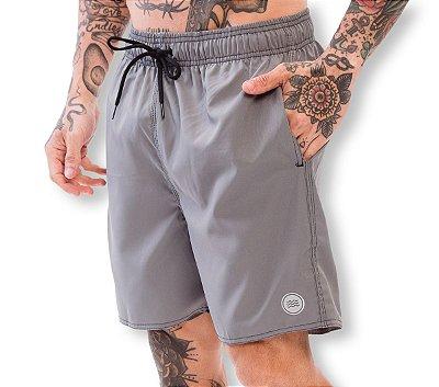 Shorts Elastano Cinza Chumbo