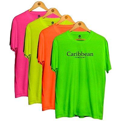 Kit 4 camisetas fluor