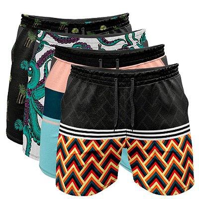 Kit 4 Shorts Praia Sortidos