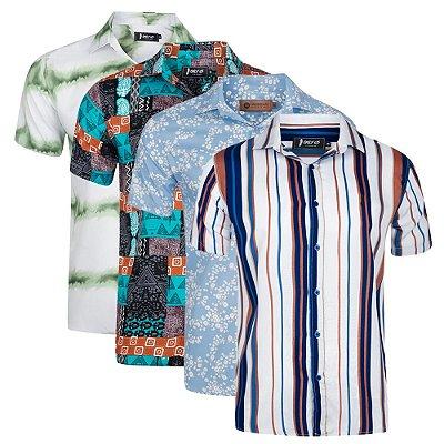 Kit 4 Camisas Manga Curta Sortidas