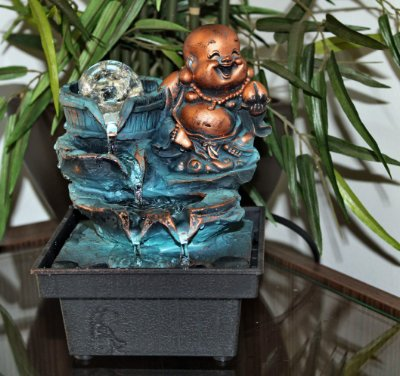 Fonte Buda com Esfera de Vidro e Bomba