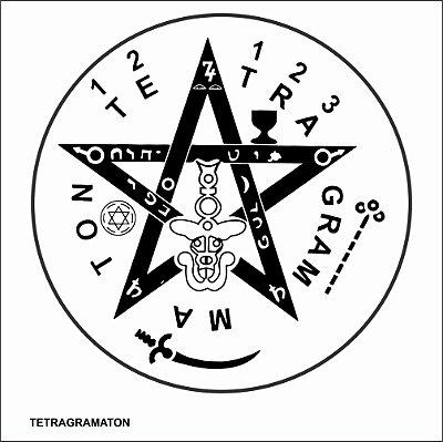 Placa Tetragramaton em PVC 17x17 cm