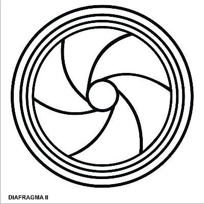 Placa Radiônica Diafragma II em PVC 17x17 cm
