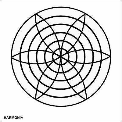 Placa Radiônica Harmonia em PVC 17x17 cm