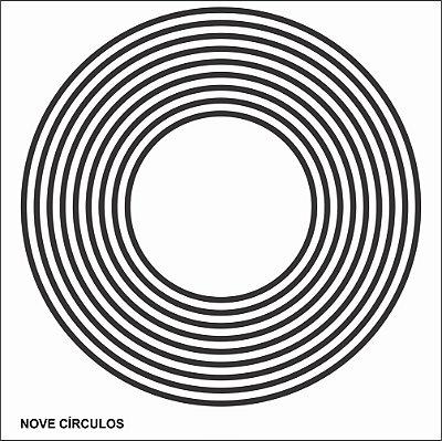 Placa Radiônica 9 Círculos PVC 17x17 cm