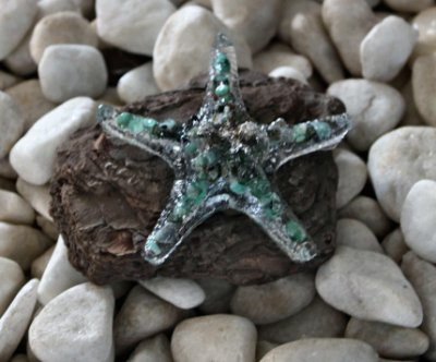 Orgonite estrela do mar verde