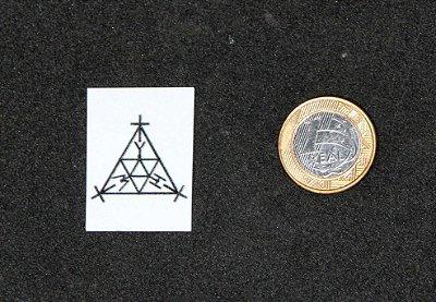 Placa André Philip ou SCAP em PVC para celular. (4x3 cm)