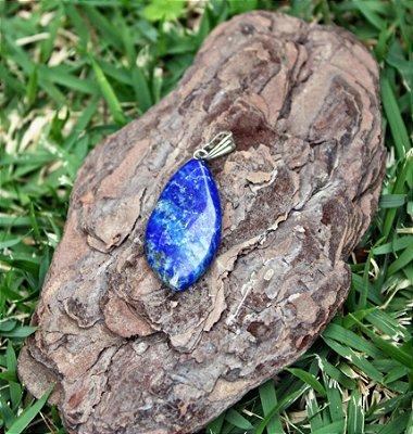 Pingente de Pedra Lápis Lazuli ou Lazulita
