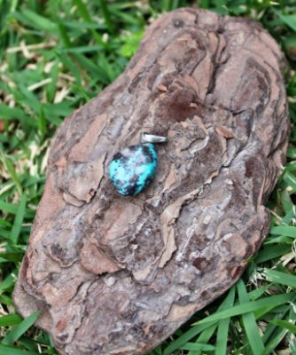 Pingente de Pedra Turquesa