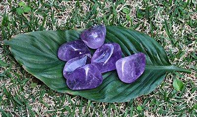 Ametista Pedra Rolada Unitária 3 a 4 cm
