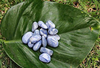Quartzo Azul Pedra Rolada Unitária 2 a 3 cm