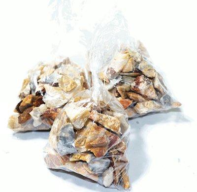 Feldspato Pedra Bruta Pequenas saco com 100 gramas