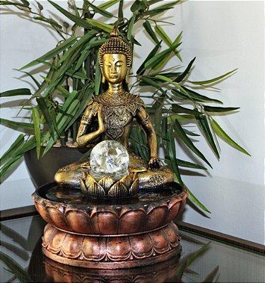 Fonte De Água Decorativa Buda Hindu