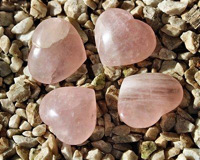 Coração de Quartzo Rosa mini